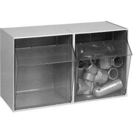 (Quantum QTB302 Clear 11-3/4-Inch by 23-5/8-Inch by 13-5/8-Inch Tip Out Bin System, Gray)