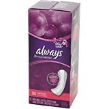 Always Xtra Protection Daily Liners Plus Odor-Lock Pads, Double Pack, Extra Long, 60 ea, 2 pack