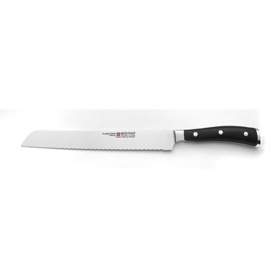 "Wusthof Classic Ikon 9"" Double Serrated Bread Knife 4163-7/23 - Wusthof Bread Knife"