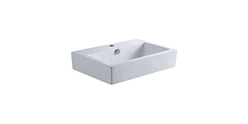 - Elements of Design EV4318 Designer Fauceture Clearwater Vitreous China Bathroom Vessel, White