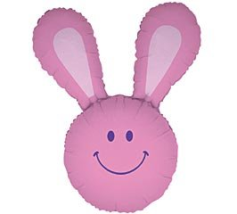 Pink Smiley Face Bunny Rabbit 37