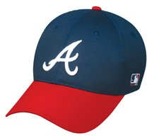 Atlanta Braves MLB Replica Team Logo Adjustable Baseball Cap from Outdoor Cap