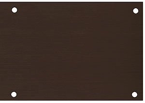 Aluminum Kick Plate With Oil Rubbed Bronze Finish Kick Plates For Exterior Doors