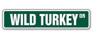 Vinyl USA Wild Turkey Street Sticker Hunter Hunting Call Gift Bourbon Lover Drinker Drink