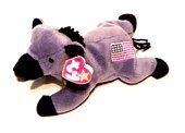 TY Beanie Baby - LEFTY the Donkey (Original Release - 4th Gen hang tag)