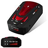 Radar Detector, Voice Alert and Car Speed Alarm System with 360 Degree Detection, Radar Detectors for Cars (Red)