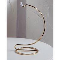 5 Inch Tall Gold Wire Ornament Hanger Stands for Small Ornament Display (Set of 10 Stands)