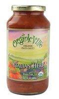 Organicville Organic Pasta Sauce Gluten Free Italian Herb -- 24 oz (Gluten Free Tomato Sauce)