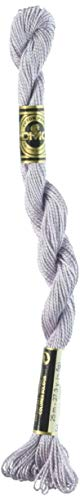 - DMC 115 5-3743 Pearl Cotton Thread, Very Light Antique Violet, Size 5