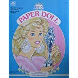 Super Star Barbie Paper Doll Book w 1 Doll & Pre-Cut Fashions (1989 Golden)