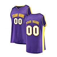 Qimeijer Custom Children's Basketball Jersey Personalized Your Own/Team Logos Name Numbers Jerseys (Lakers-Purple,Youth S)