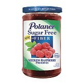 Polaner Sugar Free with Fiber, Seedless Raspberry Preserves, 13.5 ()