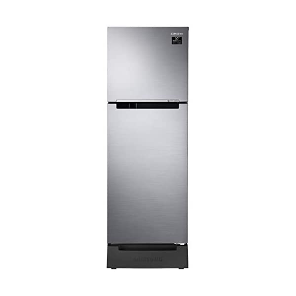 Samsung 253 L 3 Star Inverter Frost-Free Double Door Refrigerator (RT28T3123SL/HL, EZ Clean Steel(Silver), Base Stand… 2021 July Frost-free refrigerator; 253 litres capacity Energy Rating: 3 Star Warranty: 1 year on product, 10 years on compressor