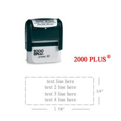 amazon com cosco 2000 plus printer 30 rubber stamp office products