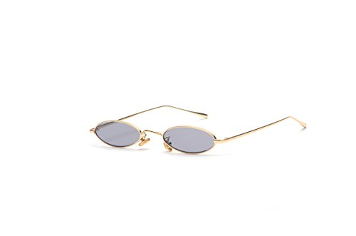 Gamt Vintage Oval Sunglasses for Women and Men Small Metal Frame Candy Colors - Man G Glasses