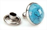 Pack Of 10 7mm Turquoise Synthetic ()