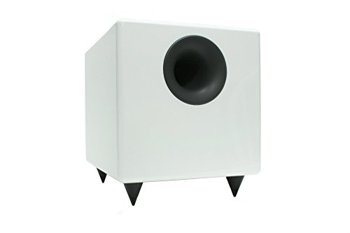 Audioengine S8 White 8-inch Powered Subwoofer (Small Powered Sub Woofer)