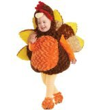 [Underwraps Baby's Turkey Belly, Brown/Orange/Yellow, Medium] (Women Turkey Costume)