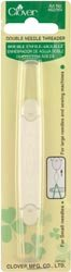 Bulk Buy: Clover Double Needle Threader 462 (3-Pack) Clover Needlecraft Inc.