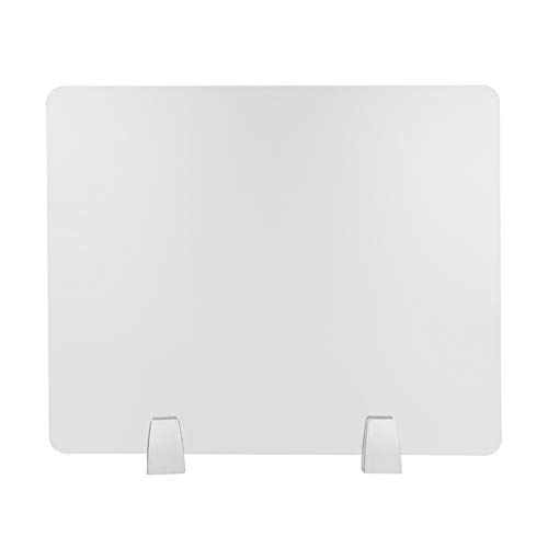 Owfeel Frosted Desk Divider Office Partition Desktop Privacy Panel with 2pcs Desk Partition Clip for Student Call Centers/Offices/ibraries/Classrooms Frosted Acrylic Clamp (Rectangle(50×40cm))