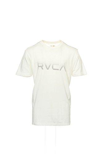 (RVCA Men's Dot Matrix, Vintage White, Medium)