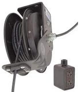 product image for Kh Industries Retractable Cord Reel, 20 Max Amps, Cord Ending: Duplex GFCI Box Receptacle, 50 ft Cord Length - RTBB3LB-1GB520-J12K