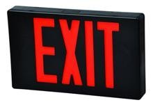 (Morris Products LED Exit Sign - Standard Type - Red With Black Housing - Battery Backup - Automatic, Low Voltage Disconnect - Compact, Low-Profile Design -Energy Saving, High Output - 1 Count)