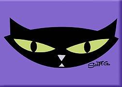 (Artist SHAG (Josh Agle) Pop Cat Fridge Magnet)