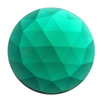 Stained Glass Jewels - 20mm Round Faceted - Teal Round Faceted Glass Jewels