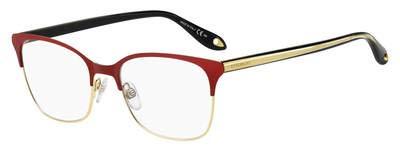Eyeglasses Givenchy GV 0076 06K3 Burgundy Gold / 00 Demo Lens 00 Gold Demo Lens