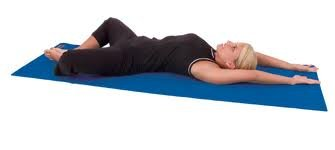 AGM Group Aeromat Elite Yoga/ Pilates 1/4-inch Thick Mat with Carrying Harness Arctic Blue