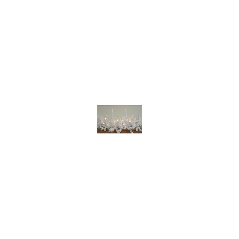 9 x 14 Pre Lit LED Flocked White Spruce Christmas Garland   War