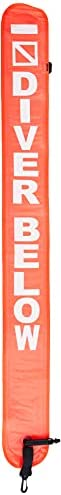 Scuba Choice Diving 4' Orange Surface Marker Signal Tube with Plastic