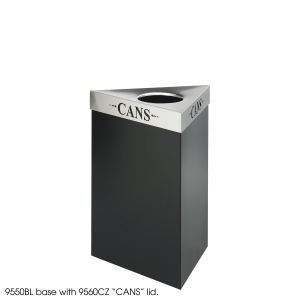 Receptacle Waste Trifecta Lid - Safco - Safco Trifecta Waste Receptacle Lid