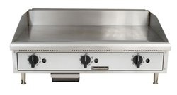 Toastmaster TMGT24 Thermostatic Control Natural Gas 24'' Griddle by Toastmaster