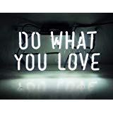 Neon Light Sign Do What You Love Real Glass Handmade 12 x 9.8 ...