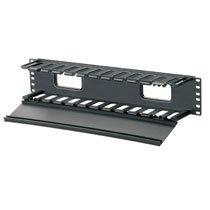 GraybaR Panduit WMPHF2E Horizontal Cable Manager, Black