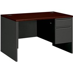 (HON 38000 Series Right Pedestal Desk - Single Pedestal Small Office Desk, 48
