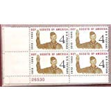 Boys Scouts Of America Mint Plate Number Block of 4 Postage Stamps Scott 1145 By USPS