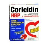 Coricidin HBP Chest Congestion & Cough Liquid Soft Gels, 20 ct (Pack 2) by Coricidin