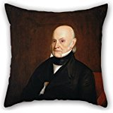 Artistdecor 20 X 20 Inches / 50 By 50 Cm Oil Painting William Hudson, Jr. - Portrait Of John Quincy Adams (1844) Throw Pillow Case ,both Sides Ornament And Gift -