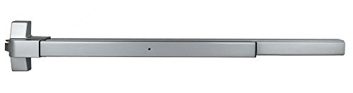 (TACO ED-F501XL-AL ED-501 Series Trans Atlantic ED-F501XL Fire Rated Extra Large Rim Surface Exit Device in Aluminum)