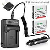 Kastar 2x batería + cargador para Casio NP-40& Casio Exilim...