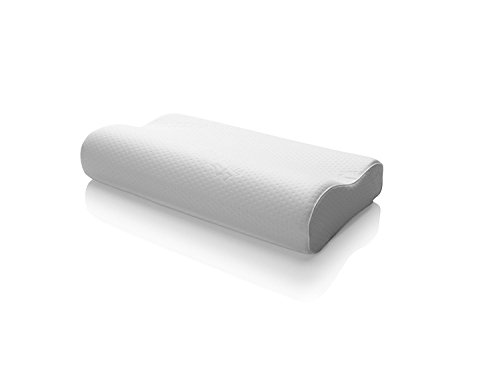 Tempur-Pedic TEMPUR-Ergo Neck Medium Size Pillow, Firm Support, Adaptable Comfort & Relief Washable Cover, Assembled in the USA, 5 YR Warranty, White