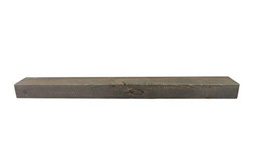 Joel's Antiques, Floating Mantel, Shelf, Mountable, Rustic, Solid Wood, Pine, Weathered Wood, Gray, (4