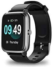 Pack of Smartwatch + Earbuds Fitness Tracker, Hear-Rate, Long-Battery (Darc Black)
