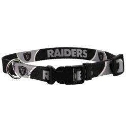 Oakland Raiders Adjustable Pet Dog Collar (Small)