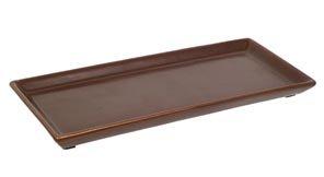 "Hosley's 11"" Long Brown Ceramic LED Tea light / Pillar Candl"