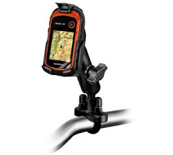 RAM MOUNTS RAM-B-149Z-GA48 Handlebar Rail Mount with Zinc Coated U-Bolt Base for the Garmin Etrex 10, 20 and 30