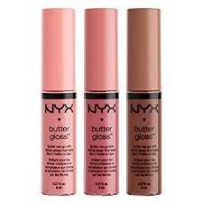 NYX Butter Lip Gloss Set 5 (Creme Brulee, Angel Food Cake and Ginger Snap)